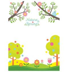 Spring Season Background vector image vector image