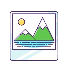 Trandy album icon with embedded picture inside vector image vector image