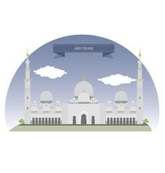 Abu Dhabi vector image