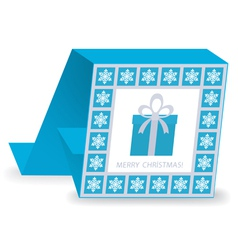 christmas card 41 vector image vector image