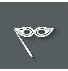 Masquerade mask symbol vector image