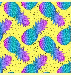 pineapple creative trendy seamless pattern vector image vector image