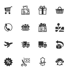Shopping and E-commerce Icons - Set 1 vector image vector image
