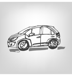01 Car sketch vector