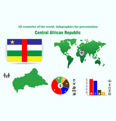 48 central african republic all countries of the vector image