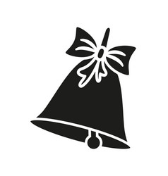 a bell of christmas or school icons black vector image