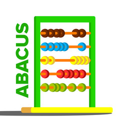 Abacus toy colorful education icon school vector
