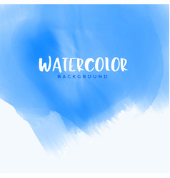 abstract blue watercolor background design vector image