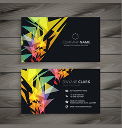 Abstract dark business card design vector
