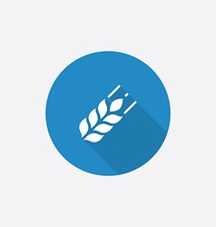 Agriculture Flat Blue Simple Icon with long shadow vector image