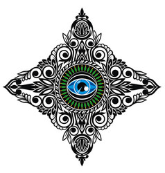 all-seeing eye tattoo vector image