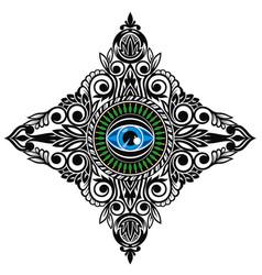 All-seeing eye tattoo vector