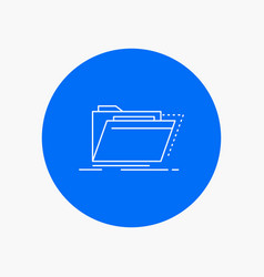 Archive catalog directory files folder white line vector