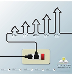 Arrow Electric Wire Business Infographic vector image