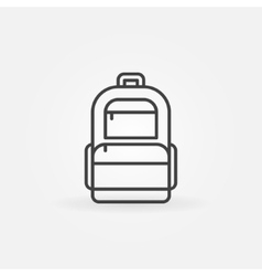 Backpack logo vector image