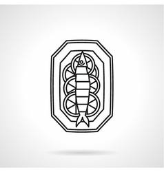 Black line icon for seafood vector image