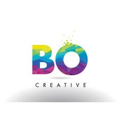 Bo b o colorful letter origami triangles design vector