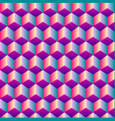 Bright gradient cubic seamless pattern vector
