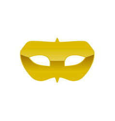 Carnival golden mask costume symbol graphic design vector