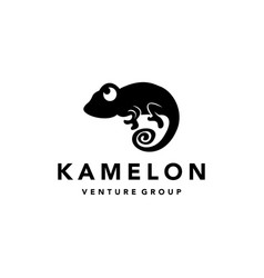 chameleon climbing vector image