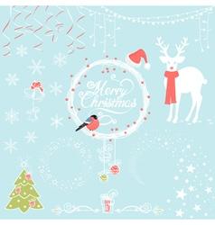 Christmas Background Decorative Elements vector image