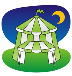 circus tent green vector image