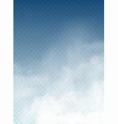 clouds and smoke on blue sky vector image