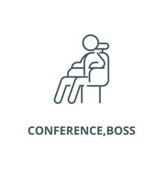 conferenceboss line icon conferenceboss vector image