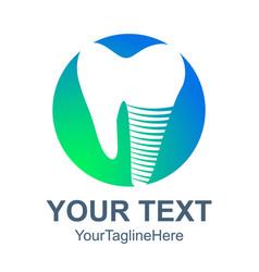 dental logo icon flat of dental logo icon for web vector image