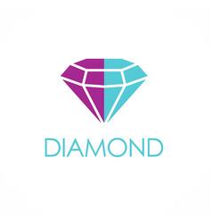 diamond logo vector image