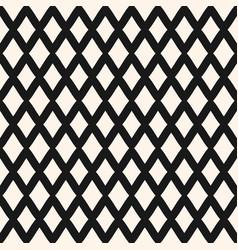 Diamonds seamless pattern lines lattice mesh vector
