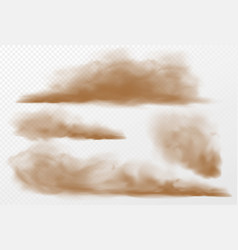 dust and sand clouds on transparent background vector image