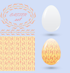 easter set with a handmade ornament elements in vector image