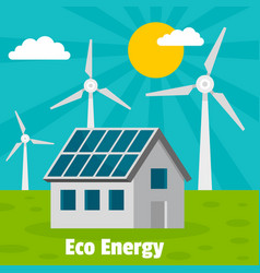 eco energy home concept background flat style vector image