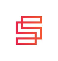 elegant line logotype s letter logo design vector image