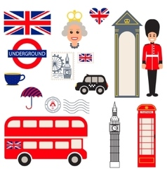 England traditional symbols vector