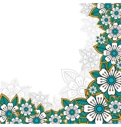 Floral greeting or invitation card vector image