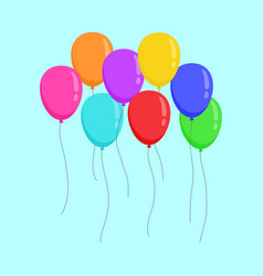 flying color ballons copy space party design vector image