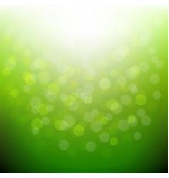 Green nature bokeh vector