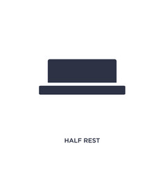Half rest icon on white background simple element vector