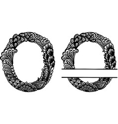 Hand drawn letter o vector