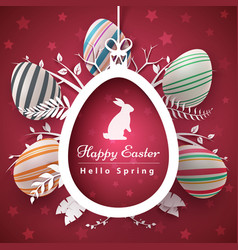 Happy easter - paper origami style vector