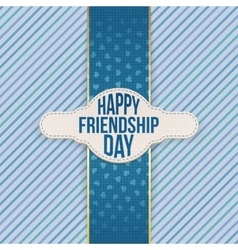 Happy Friendship Day festive Emblem with Text vector image