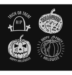 Happy Halloween logo with curving pumpkins vector