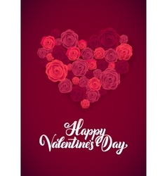 Happy Valentines Day White Lettering B ackground vector