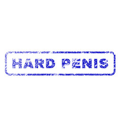Hard penis rubber stamp vector