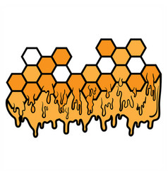 honeycomb icon design on white background vector image