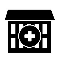 Hospital solid icon medical center vector