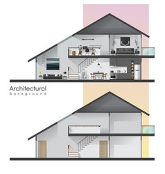 house cross section vector image