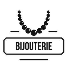 Jewelry bijouterie logo simple black style vector